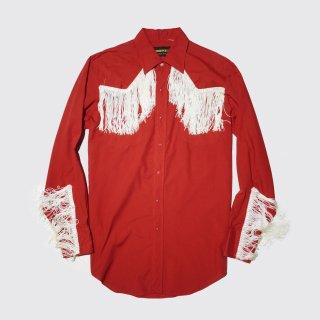 vintage fringe western shirt
