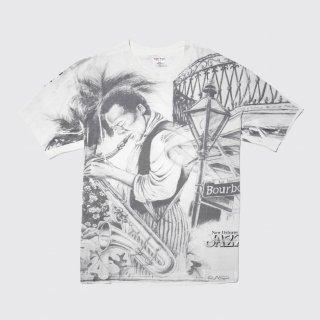 90's new orleans jazz full print tee , body-sof tee