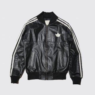 vintage adidas leather track jacket
