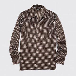 vintage campy dot poly shirt