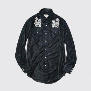 vintage hbarc sheer broderie western shirt