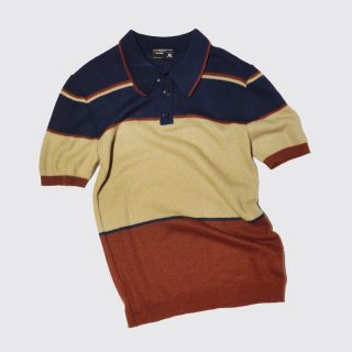 vintage jcpenny border knit polo h/s