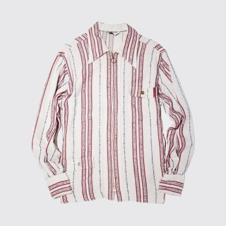 vintage stripe rayon zipped jacket