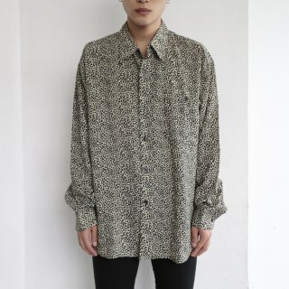 old leopard rayon l/s shirt