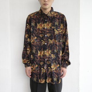 old flower rayon l/s shirt