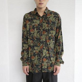 old flower cotton l/s shirt