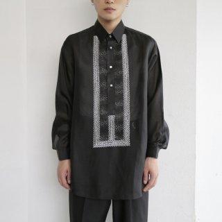 old silk organdy broiderie shirt