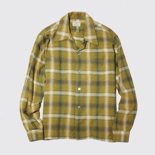 vintage ombre check box shirt