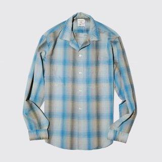 vintage ombre check cotton l/s shirt