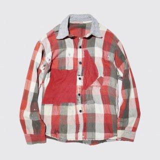 vintage crash and repair block check shirt