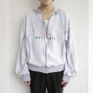 remake inside out sweat cardigan , reversible