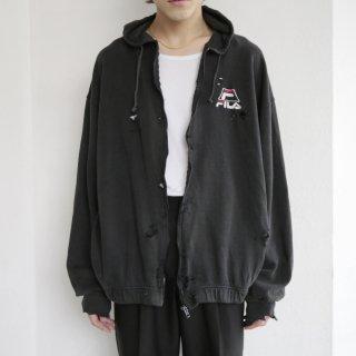boro custom zipped hoodie , body-old fila