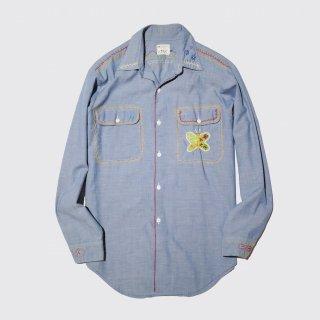vintage big mac hand broiderie dungaree shirt