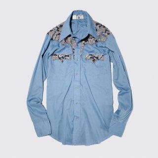 vintage jcpenny botanical yoke wesern shirt