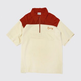 vintage broiderie poly bowling shirt