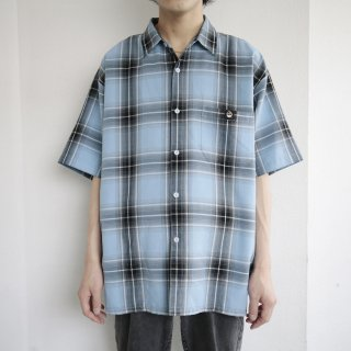 old loose lowrider ombre check h/s shirt