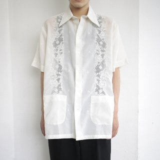 vintage lace broiderie h/s shirt