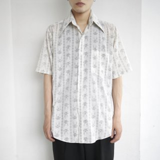 vintage sears flower h/s shirt