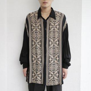 old euro oriental sheer shirt