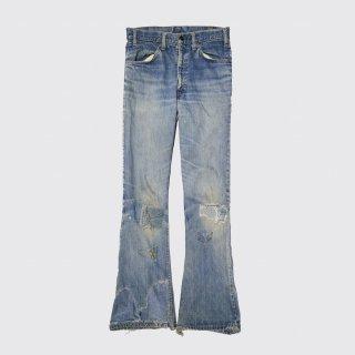vintage levi's broken custom flare jeans