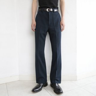 [40%OFF]vintage flare poly trousers