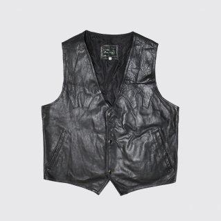 vintage western leather vest