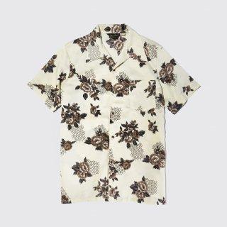 vintage flower poly h/s shirt