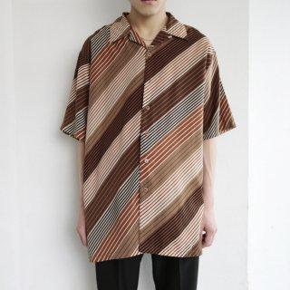 [40%OFF]old bias stripe loose h/s shirt
