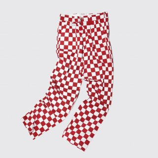 vintage checker flag trousers