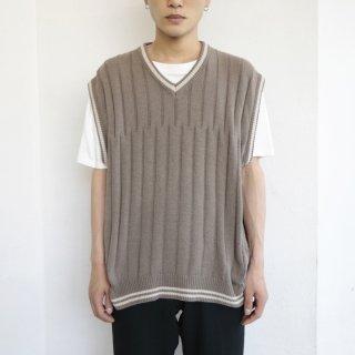 old cotton rib knit vest