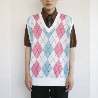 old londonfog argyle cotton knit vest