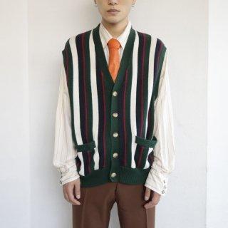 old tommy stripe knit vest