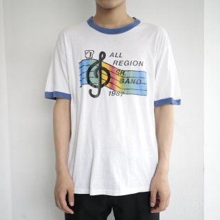 [40%OFF]80's sr band ringer tee , body-sports wear