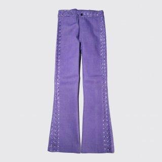 vintage broiderie flare jeans
