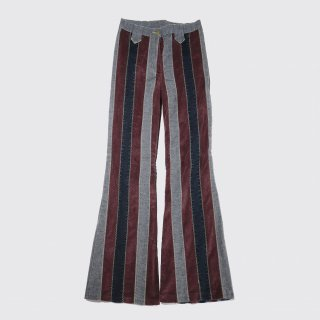 vintage corded stripe flare trousers
