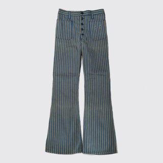 vintage stripe flare trousers