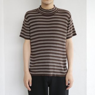 old border knit h/s