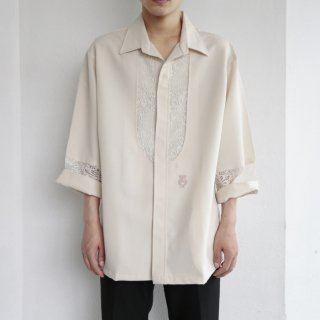 old lace combi h/s shirt