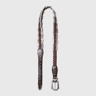vintage metal braided belt