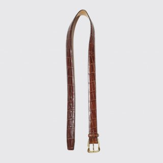 vintage emboss leather belt