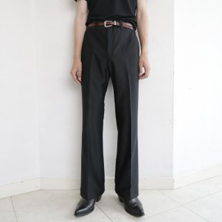 vintage flare poly trousers , dead stock