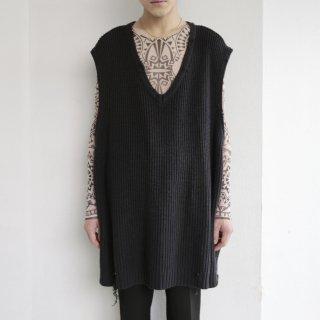 old oversized knit vest , boro