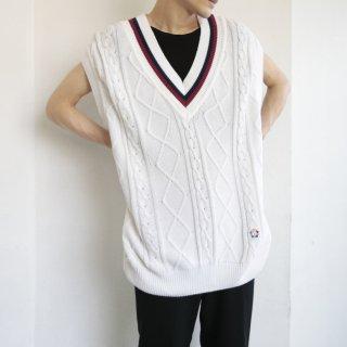 old valentino tilden cotton knit vest