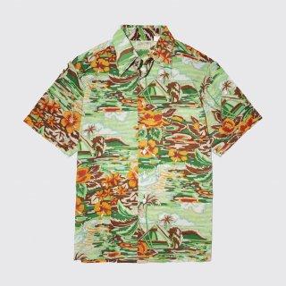 vintage sears poly hawaiian shirt