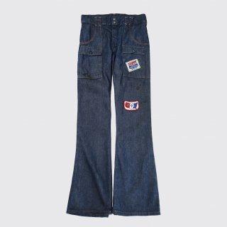 vintage custom flare bush jeans