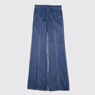 vintage red snap flare jeans