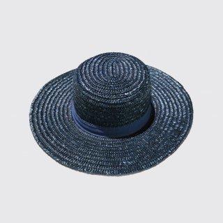 vintage long brim boater hat