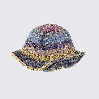 vintage hand knit hemp hat
