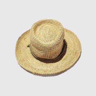 vintage corded straw hat