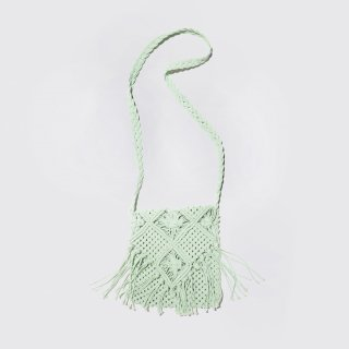 vintage fringe crochet bag